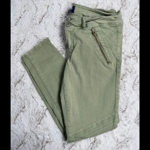 AEO Olive Panel Moto Pants
